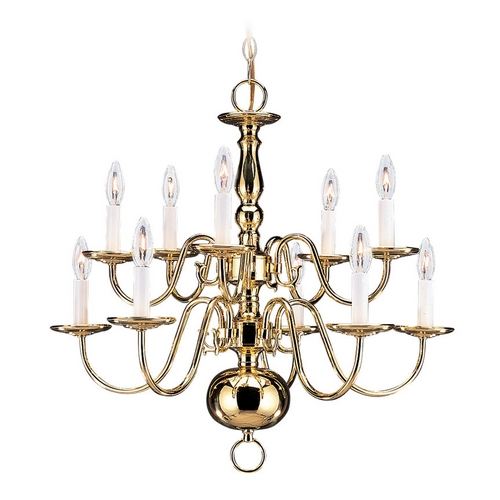 Sea Gull Lighting Chandelier in Polished Brass Finish 3413-02