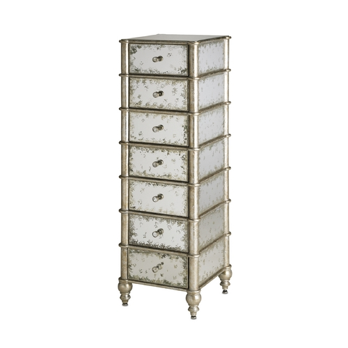 Currey and Company Lighting Cabinets / Storage / Organization in Antique Mirror/silver Leaf Finish 4212