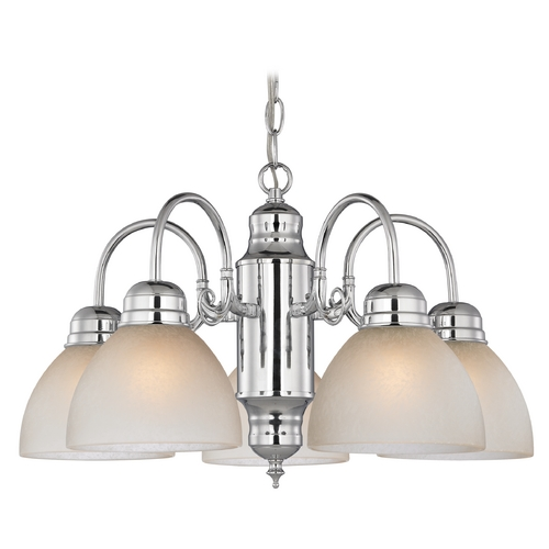 Design Classics Lighting Mini-Chandelier with Caramel Glass in Chrome Finish 709-26 GL1033-CAR