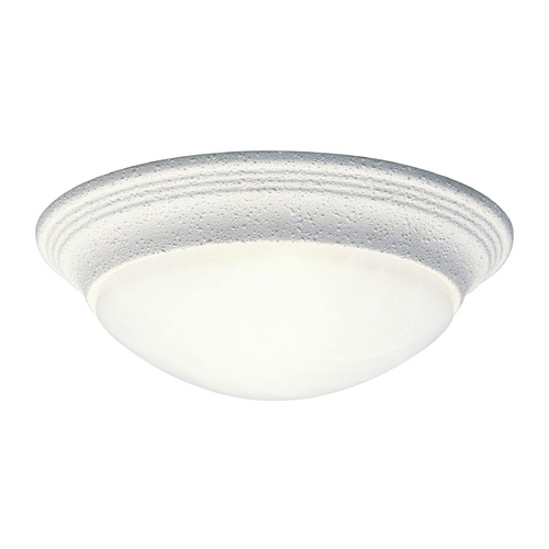 Progress Lighting Progress Flushmount Light with Alabaster Glass in White Finish P3688-30