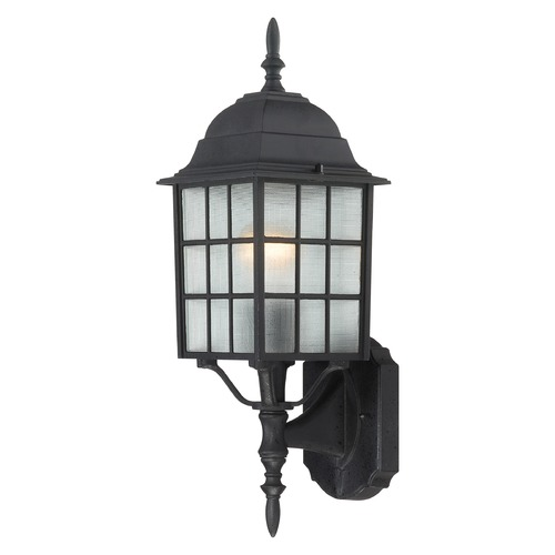 Nuvo Lighting Outdoor Wall Light with White Glass in Textured Black Finish 60/4903
