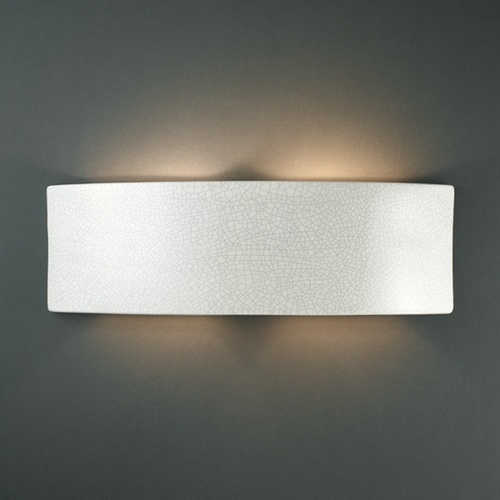 Justice Design Group Sconce Wall Light in White Crackle Finish CER-5205-CRK