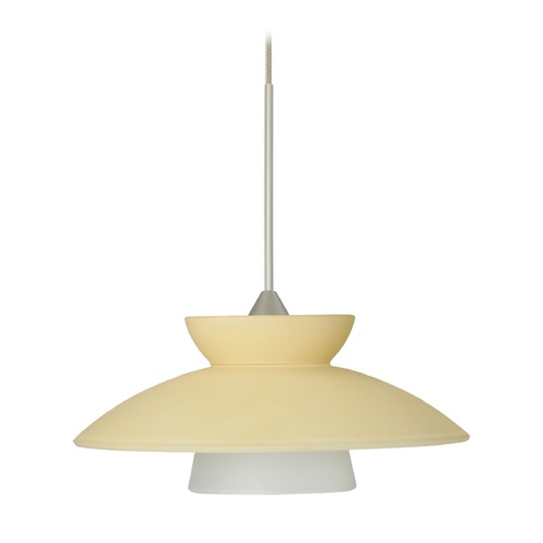 Besa Lighting Besa Lighting Trilo Satin Nickel LED Mini-Pendant Light 1XT-271897-LED-SN