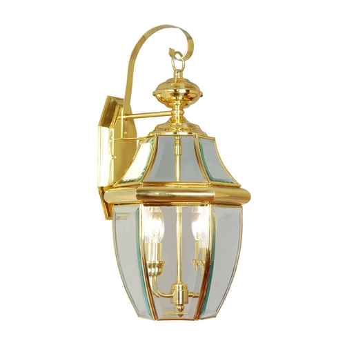 Livex Lighting Livex Lighting Monterey Polished Brass Outdoor Wall Light 2251-02