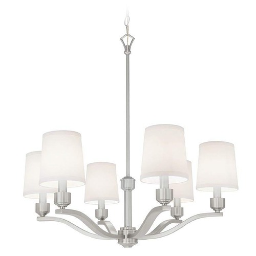 Norwell Lighting Norwell Lighting Roule Polished Nickel Chandelier 5616-PN-WS
