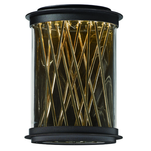 Maxim Lighting Maxim Lighting International Bedazzle Galaxy Bronze, French Gold LED Outdoor Wall Light 53497CLGBZFG