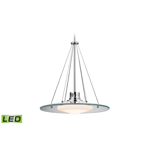 Alico Industries Lighting Alico Lighting Tribune Chrome LED Pendant Light with Oblong Shade LC414-PW-80