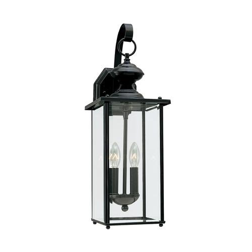 Jamestowne Outdoor Wall Light: Sea Gull Lighting Jamestowne Black LED Outdoor Wall Light