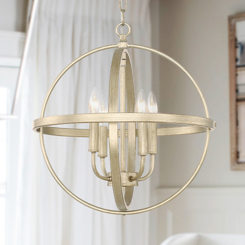 HomePlace by Capital Lighting Homeplace By Capital Lighting Winter Gold Pendant Light 317541WG