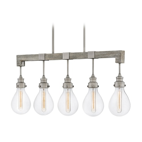 Hinkley Hinkley Denton Pewter Island Light with Teardrop Shade 3266PW
