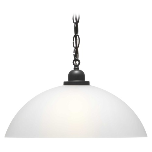 Progress Lighting Classic Dome Pendant Graphite Pendant Light with Bowl / Dome Shade P500149-143