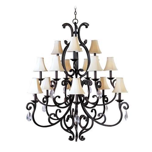 Maxim Lighting Maxim Lighting Richmond Colonial Umber Chandelier 31007CU/CRY085