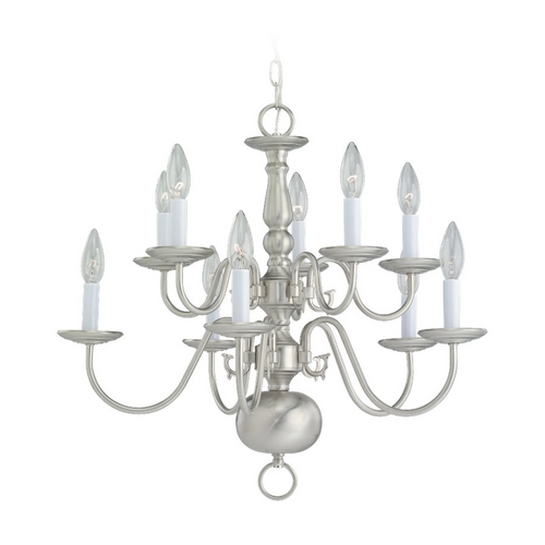 Sea Gull Lighting Chandelier in Brushed Nickel Finish 3413-962