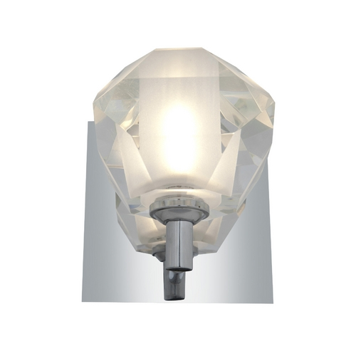 Access Lighting Modern Sconce Wall Light with White Glass in Chrome Finish 23910-CH/FCL