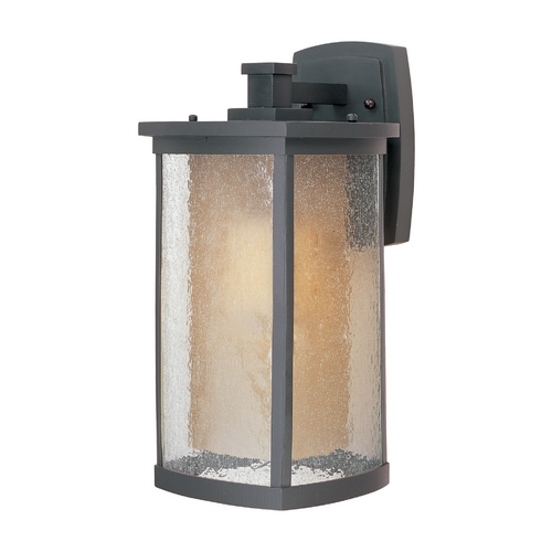 Maxim Lighting Outdoor Wall Light with Beige / Cream Glass in Bronze Finish 85654CDWSBZ