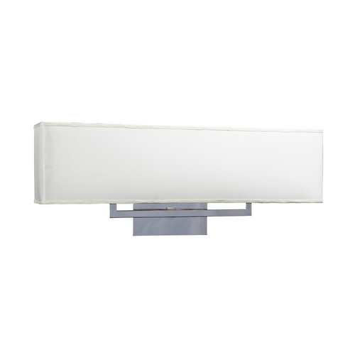 PLC Lighting Modern Bathroom Light with White Shades in Polished Chrome Finish 18198 PC