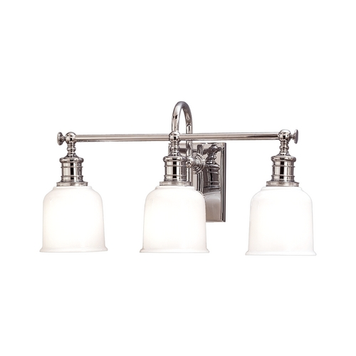 Hudson Valley Lighting Retro Style Polished Nickel Bathroom Wall Light 1973-PC