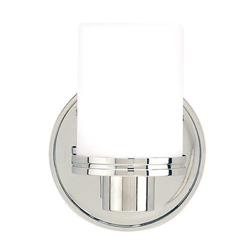 Hudson Valley Lighting Modern Sconce with White Glass in Polished Chrome Finish 2051-PC