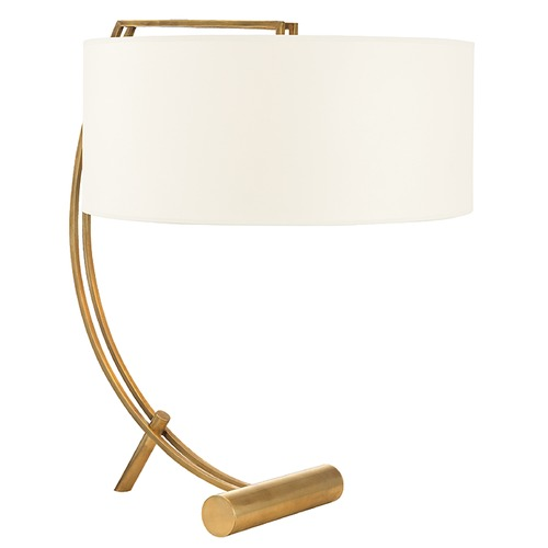 Hudson Valley Lighting Deyo 2 Light Table Lamp Drum Shade - Aged Brass L400-AGB-WS