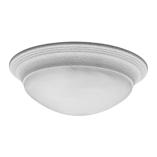 Progress Lighting Progress Flushmount Light with Alabaster Glass in White Finish P3689-30