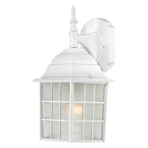 Nuvo Lighting Outdoor Wall Light with White Glass in White Finish 60/4904