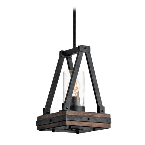 Kichler Lighting Kichler Lighting Colerne Stained Finish Pendant with Cylindrical Shade 43435AUB