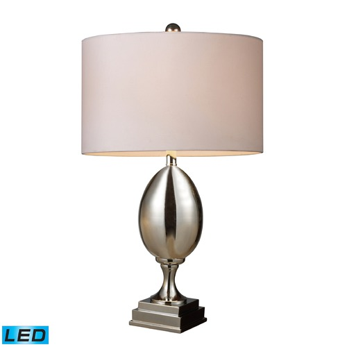 Dimond Lighting Dimond Lighting Chrome Plated Glass LED Table Lamp with Drum Shade D1426W-LED