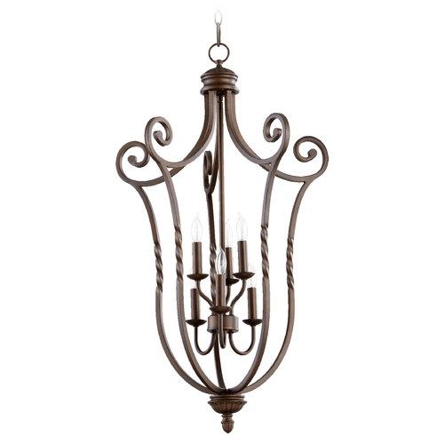 Quorum Lighting Quorum Lighting Tribeca Ii Oiled Bronze Pendant Light 6878-6-86