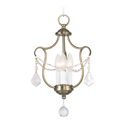 Livex Lighting Livex Lighting Chesterfield Antique Brass Pendant Light 6420-01