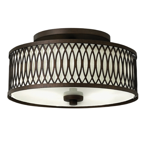 Hinkley Lighting Hinkley Lighting Walden Victorian Bronze Semi-Flushmount Light 3291VZ