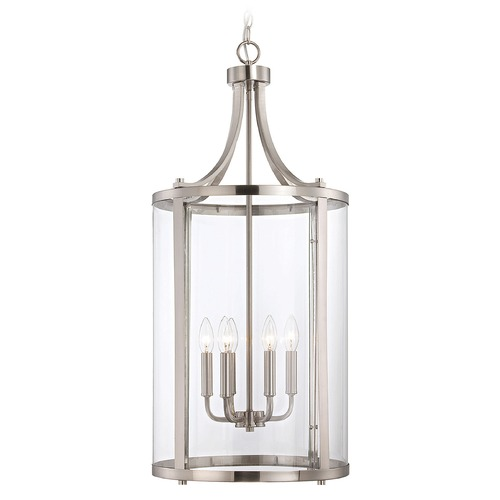 Savoy House Savoy House Satin Nickel Pendant Light with Cylindrical Shade 7-1041-6-SN