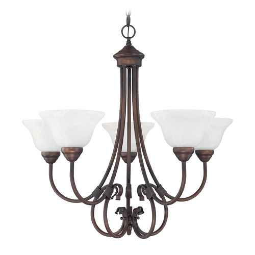 Capital Lighting Capital Lighting Hometown Burnished Bronze Chandelier 3226BB-220