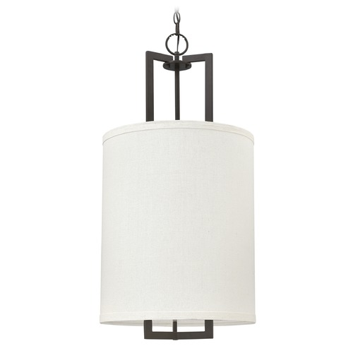 Hinkley Lighting Hinkley Lighting Hampton Buckeye Bronze Pendant Light with Drum Shade 3205KZ