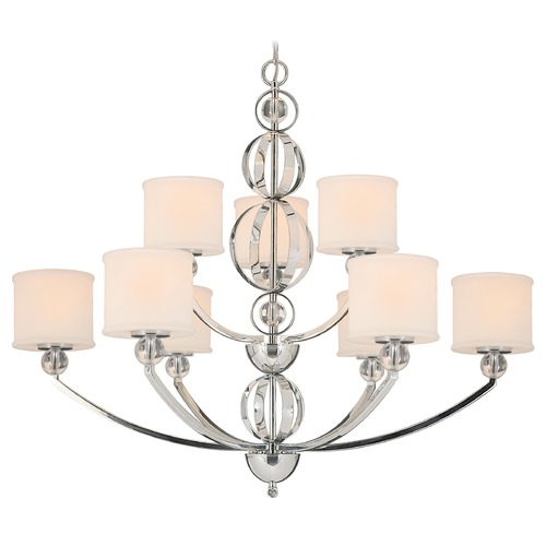 Golden Lighting Golden Lighting Cerchi Chrome Chandelier 1030-9 CH