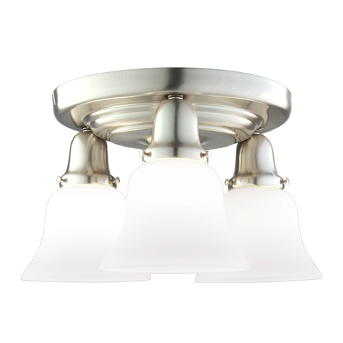 Hudson Valley Lighting Hudson Valley Lighting Edison Collection Satin Nickel Semi-Flushmount Light 587-SN-341