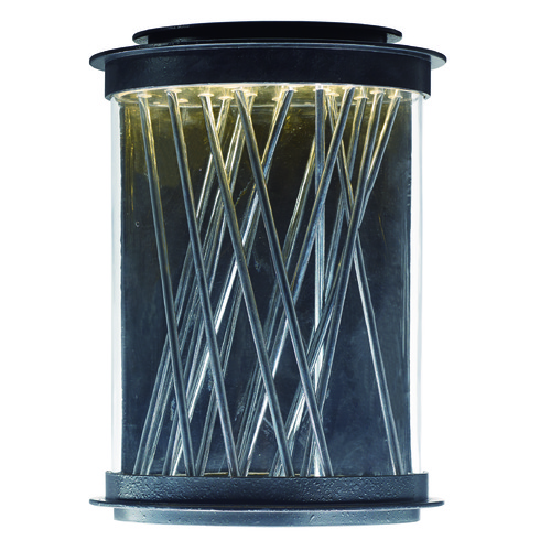Maxim Lighting Maxim Lighting Bedazzle Texture Ebony, Polished Chrome LED Outdoor Wall Light 53497CLTEPC