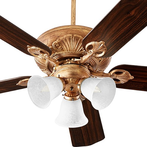 Quorum Lighting Quorum Lighting Chateaux Uni-Pack Vintage Gold Leaf Ceiling Fan Without Light 78525-1430