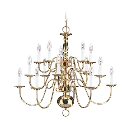 Sea Gull Lighting Chandelier in Polished Brass Finish 3414-02