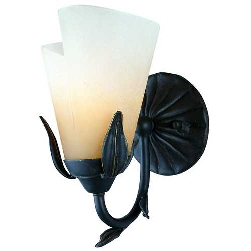 Quoizel Lighting Calla Lily Sconce with Amber Glass YU8679IB