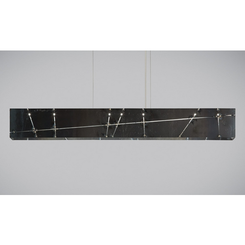 Tech Lighting Modern Pendant Light in Black Finish 700LSCRSS