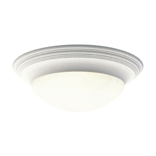 Progress Lighting Progress Flushmount Light with Alabaster Glass in White Finish P3697-30