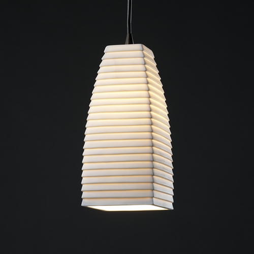 Justice Design Group Justice Design Group Limoges Collection Mini-Pendant Light POR-8816-65-SAWT-DBRZ