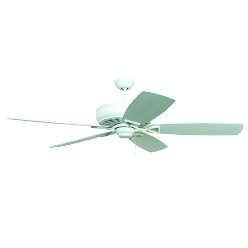 Craftmade Lighting Craftmade Lighting Supreme Air White Ceiling Fan Without Light SUA62WW5
