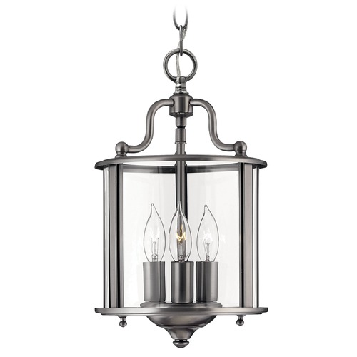 Hinkley Lighting Mini-Pendant Light with Clear Glass in Pewter Finish 3470PW