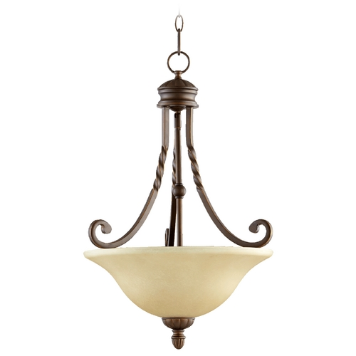 Quorum Lighting Quorum Lighting Tribeca Ii Oiled Bronze Pendant Light 8078-3-186