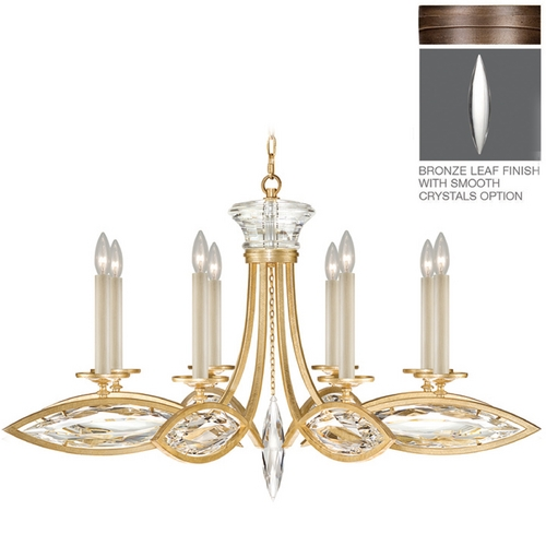 Fine Art Lamps Fine Art Lamps Marquise Antique Hand Rubbed Bronze Crystal Chandelier 843940-31ST