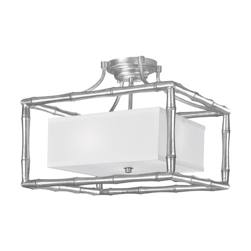 Crystorama Lighting Crystorama Lighting Masefield Antique Silver Semi-Flushmount Light 9013-SA