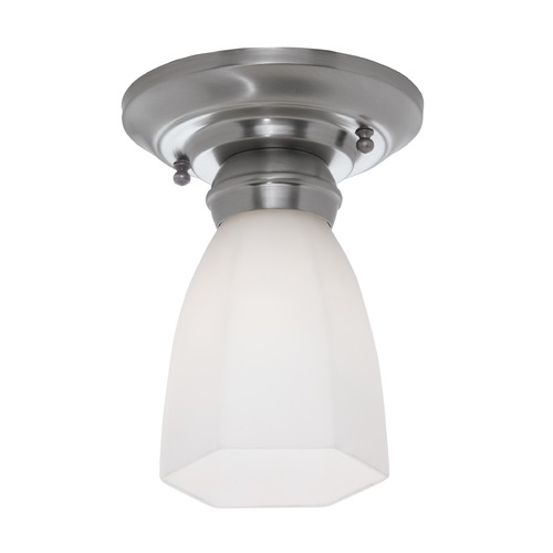 Norwell Lighting Norwell Lighting Mercer Brush Nickel Semi-Flushmount Light 5371-BN-HXO