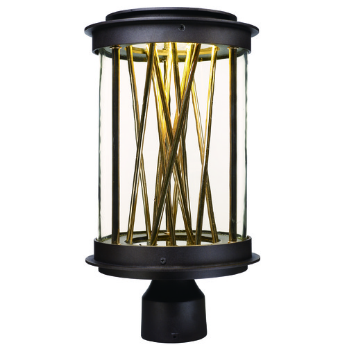 Maxim Lighting Maxim Lighting International Bedazzle Galaxy Bronze, French Gold LED Post Light 53499CLGBZFG