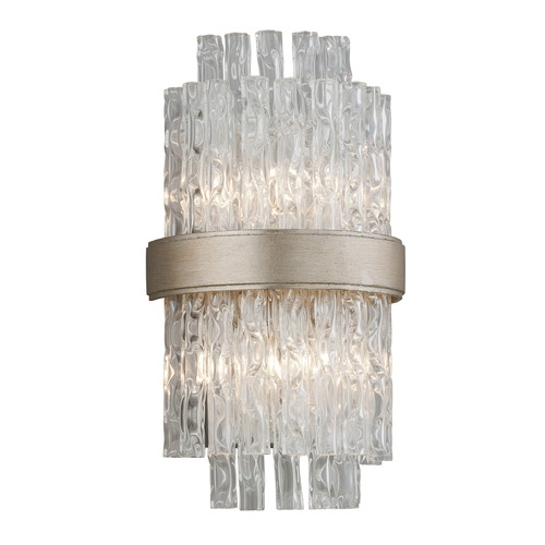 Corbett Lighting Corbett Lighting Chime Silver Leaf with Polished Stainless Accents Sconce 204-12